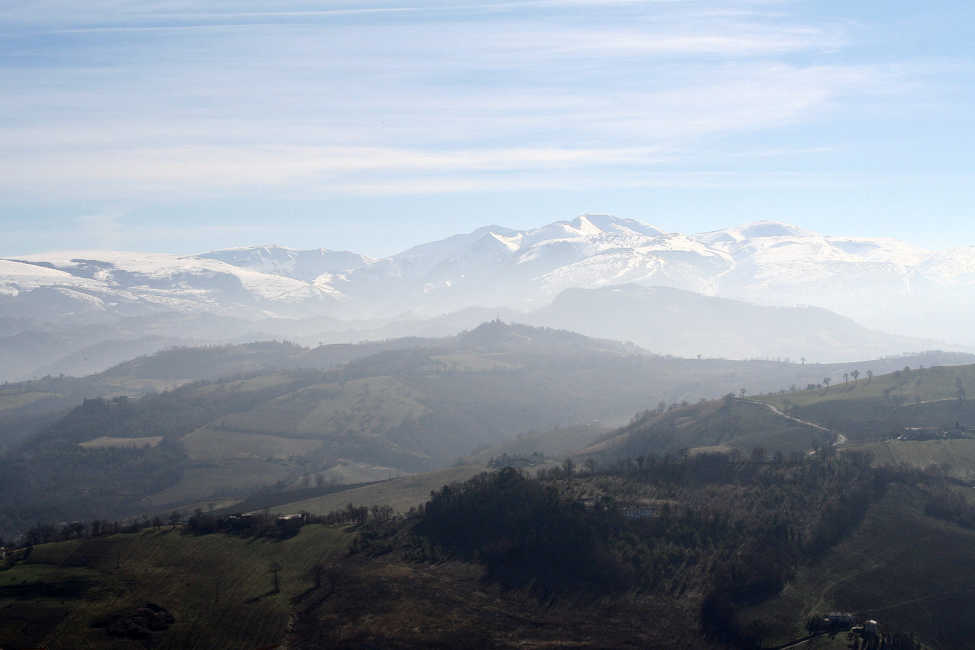 camerino view to palomba, sentino & the sibillini