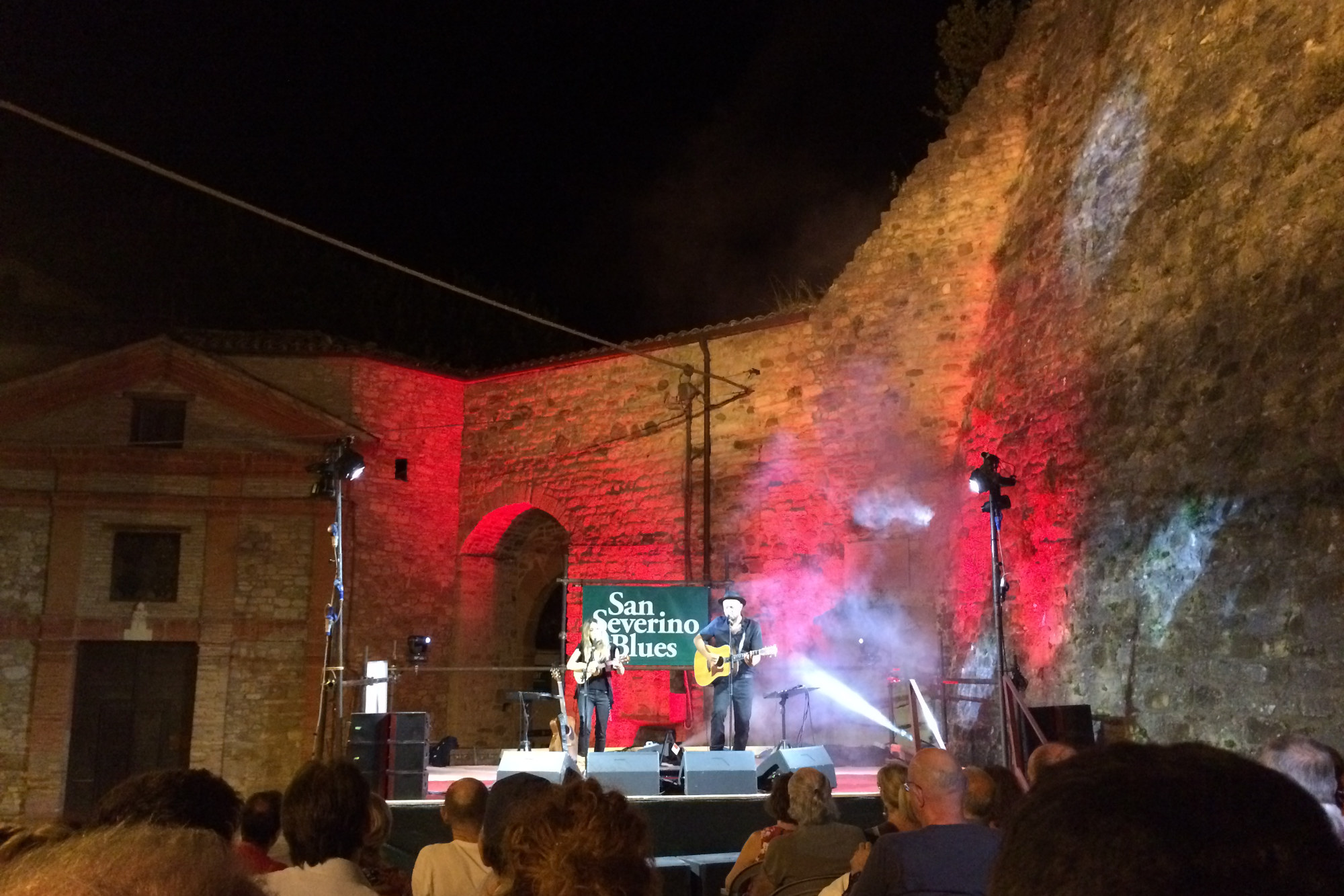 outside concert during san severino blues festival