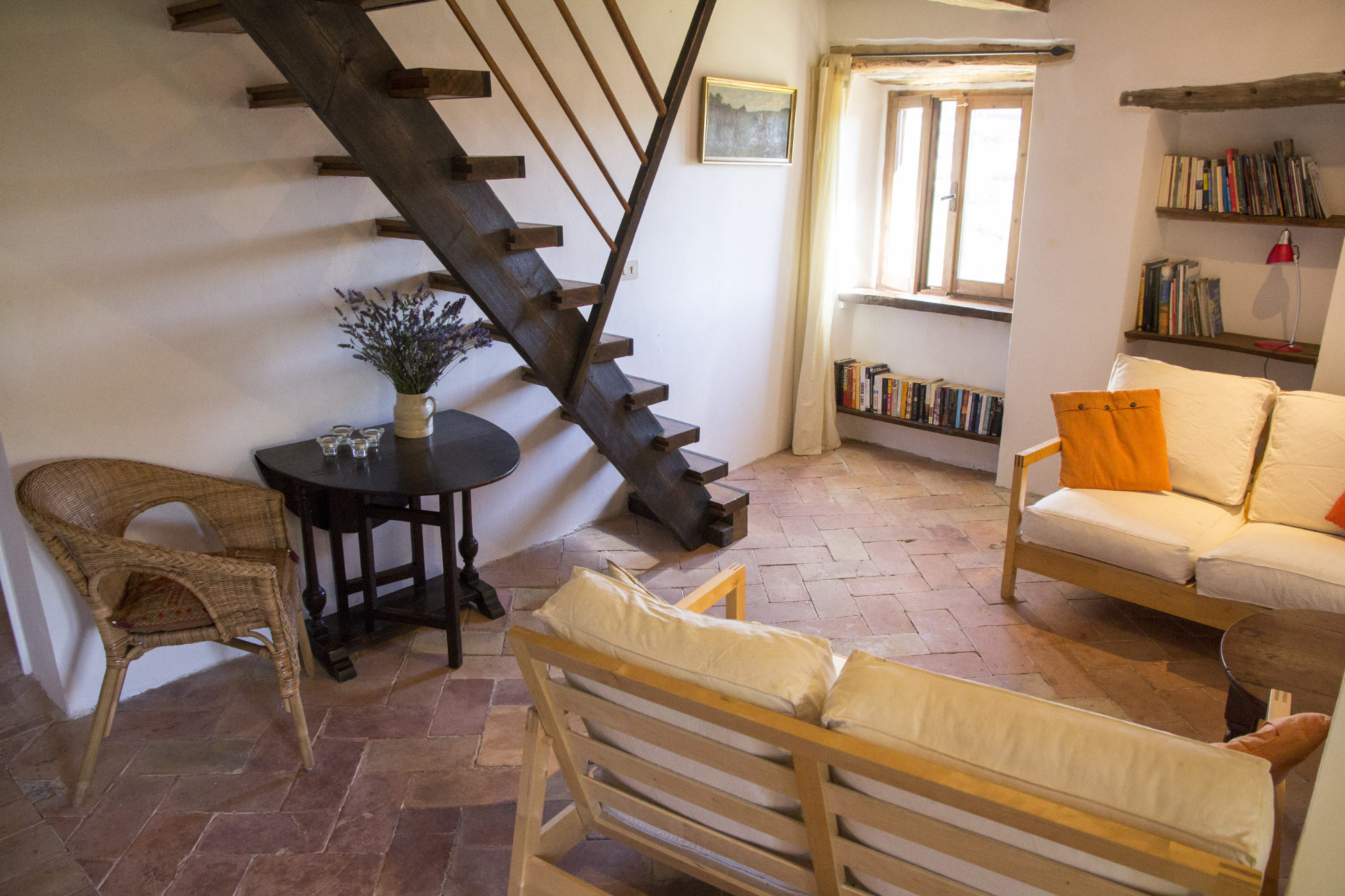 palomba living room and stairs